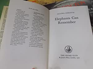 Elephants Can Remember: Christie, Agatha