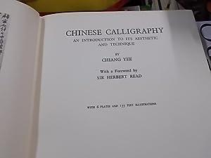 Chinese Calligraphy: Yee, Chiamg