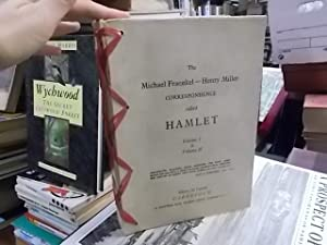The Michael Fraenkel - Henry Miller Correspondence called Hamlet