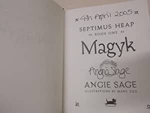 Septimus Heap Book One: Magyk - Signed: Sage, Angie