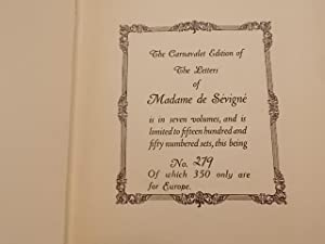 The Letters of Madame De Sevigne 7 volumes: Sevigne