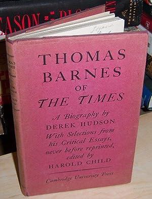 Thomas Barnes of The Time: Derek Hudson (signed)