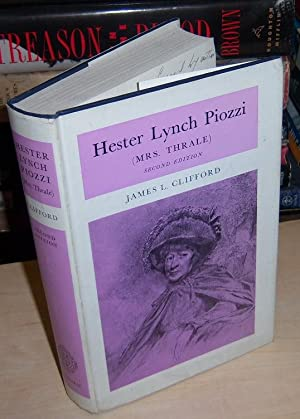 Hester Lynch Piozzi (2nd ed): Clifford, James Lowry (signed)