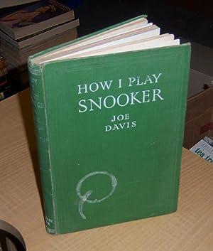 How I play snooker: Davis, Joe (signed)