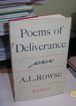 Poems of Deliverance: A.L. Rowse