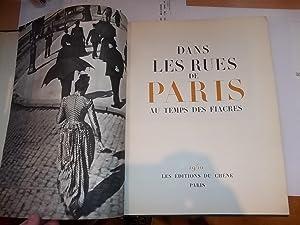 Dans Les Rues De Paris Au Temps Des Fiacres: FARGUE Léon-Paul