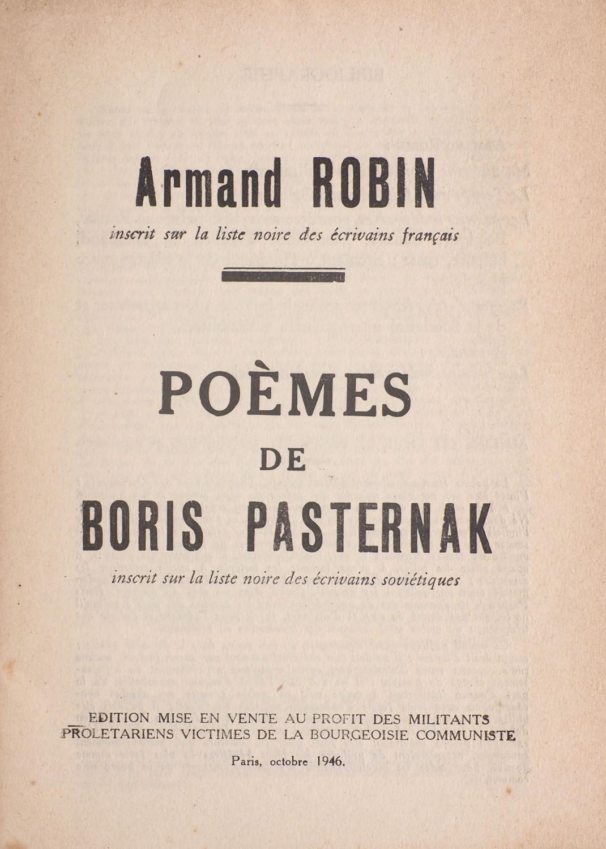 Poèmes De Boris Pasternak