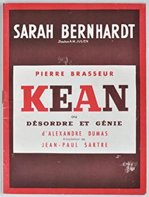 Kean. [Theatre programme for the first season: SARTRE, Jean-Paul after