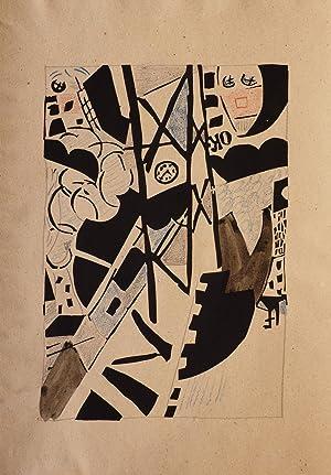 Dix Linogravures originales 1914-1920.: POUGNY, [Jean], illustrator.