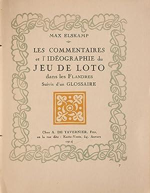 Les Commentaires et l'idéographie du jeu de: ELSKAMP, Max.
