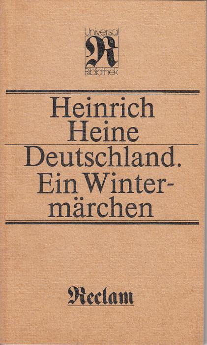Heinrich Heine Deutschland Ein Wintermärchen