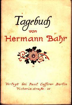 Tagebuch: Bahr, Hermann.