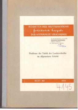 Probleme der Taktik der Landstreitkräfte im allgemeinen Gefecht: Arnold, Eberhard u.a.