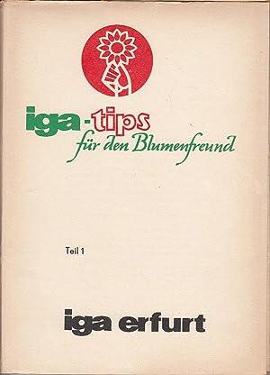 iga-Tips für den Blumenfreund, Nr.1-25 in Sammelmappe: Bente, Margit u.a.