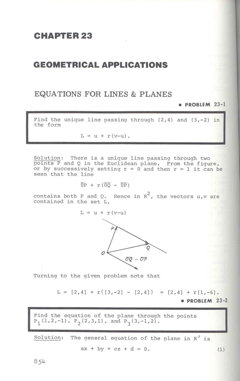 The linear algebra problem solver [Linear