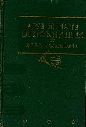 Five minute biograhies. Martin Johnson, Florenz Siegfeld,: Carnegie, Dale.