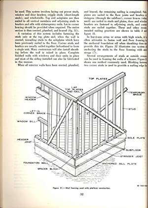 Wood-frame house construction. [Location and excavation; Concrete: Anderson, L. O.