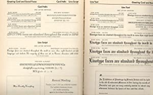 Linotype one-line specimens. [Linotype faces, text, and: Mergenthaler Linotype Company.