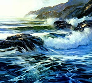 Marine painting in oil. [Studio and Outdoor: Robinson, E. John,