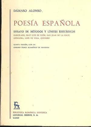 Poesía española : Ensayo de Metodos y: Alonzo, Damaso.