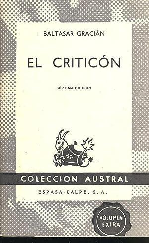 El criticón ; edición al cuidado del: Gracián y Morales,