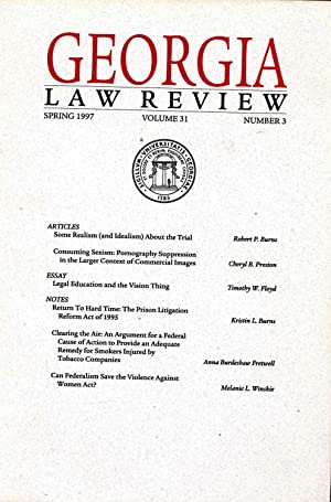 Georgia Law Review : Spring 1997, Volume: Burns, Robert P.