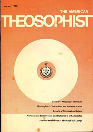 The American Theosophist, March 1978, Volume 66,: Davis, James. [Dora