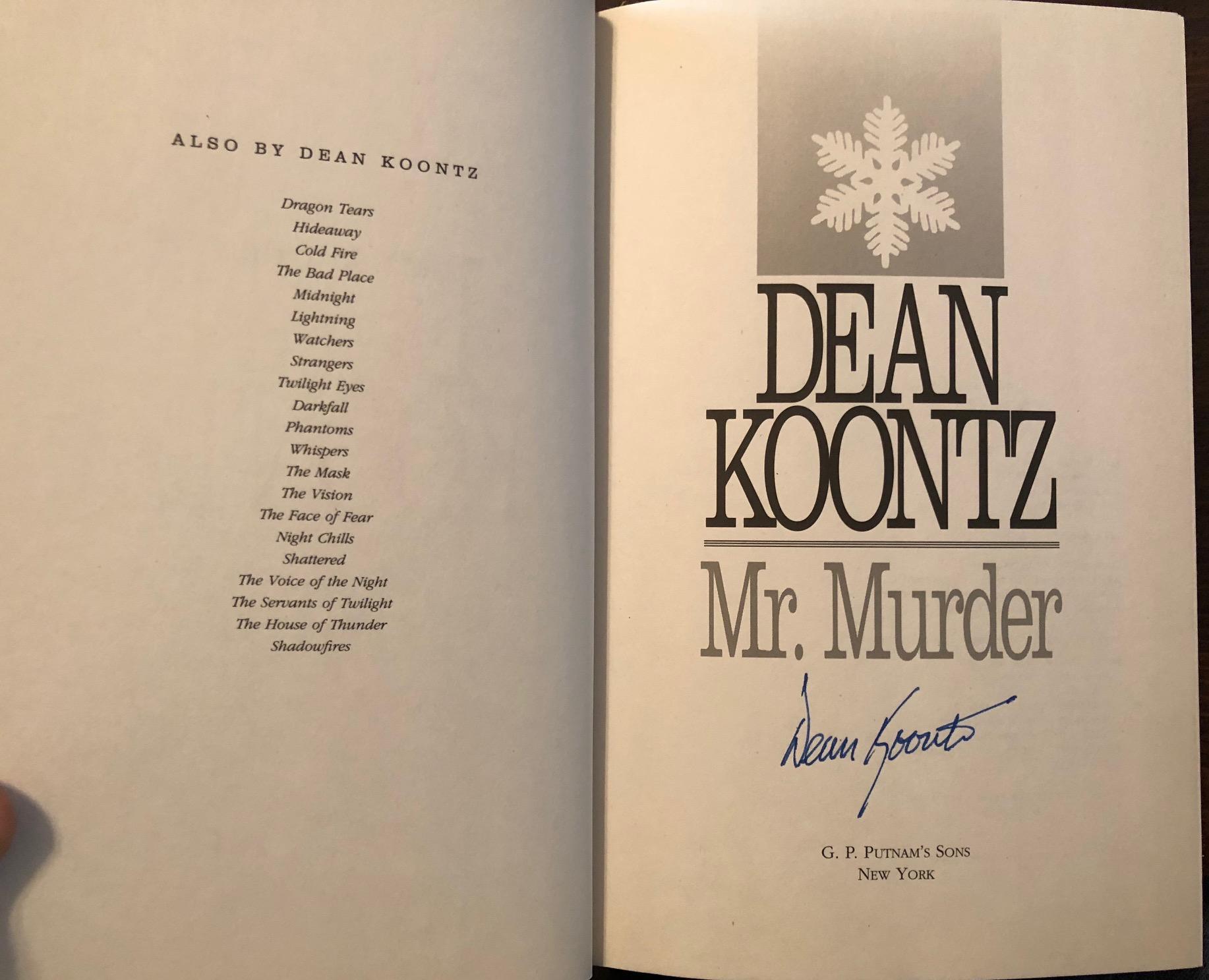 Mr Murder Dean Koontz