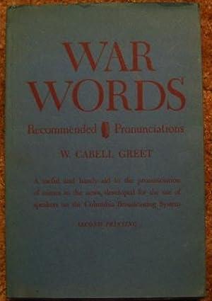 War Words: W. Cabell Greet
