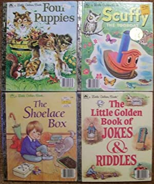 The Little Golden Book of Jokes & Riddles, Scuffy the Tugboat, Four Puppies, The Shoelace Box