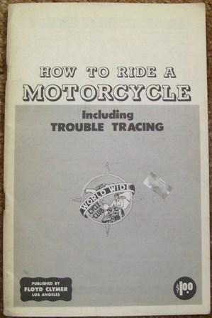 How to Ride a Motorcycle - Including Trouble Tracing