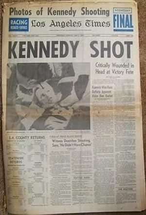 Los Angeles Times June 5, 1968 KENNEDY SHOT