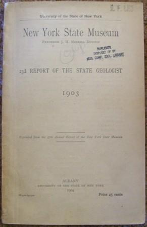 23d Report of the State Geologist 1903 - New York State Museum: J. H. Merrill