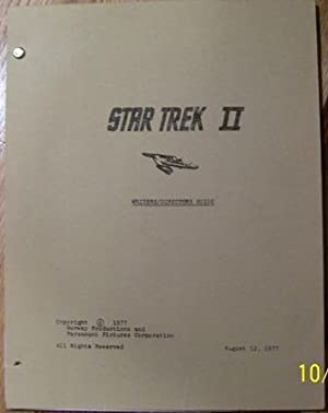 Star Trek II Writers/Directors Guide