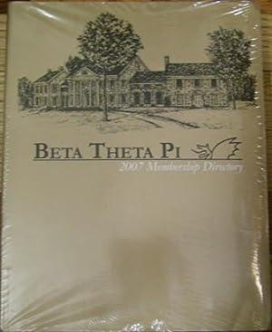 Beta Theta Pi 2007 Membership Directory