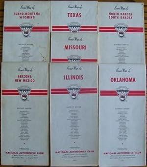 Road Map of North Dakota South Dakota; Road Map of Oklahoma; Road Map of Idaho-Montana Wyoming; ...