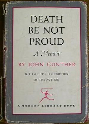 Death be Not Proud: John Gunther