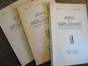 Journal de la Societe des Oceanistes.: Societe des Oceanistes.