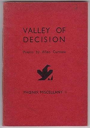 Valley of Decision: Poems by Allen Curnow: Curnow, Allen