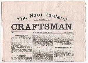 The New Zealand Craftsman. No. 1. Dunedin, November 1, 1889.