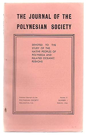 The Journal Of The Polynesian Society Volume 51, Number 1: The Polynesian Society