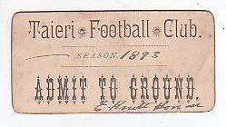 Season Pass Ticket: Taieri Football Club