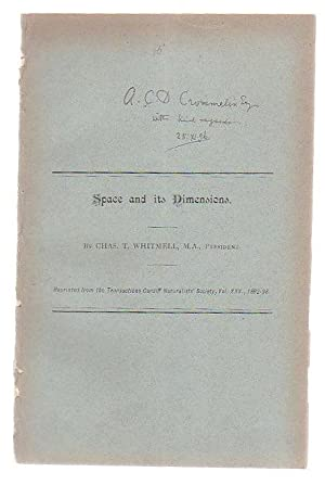 Space And Its Dimensions: Whitmell, Chas T