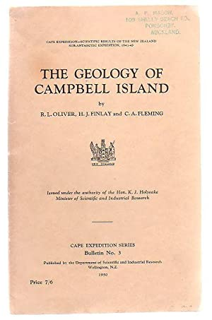 The Geology of Campbell Island Cape Expedition - Scientific Results of the New Zealand ...