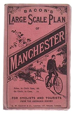 Bacon's Cycling Road-Map Of England And Wales: Manchester