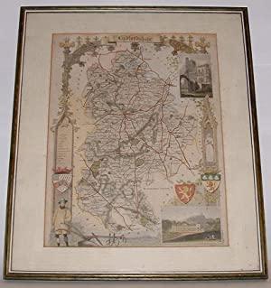 Map of Bedfordshire: Moule, Thomas