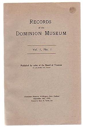 Records Of The Dominion Museum, Vol 1,