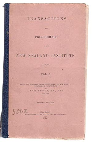 Transactions And Proceedings Of The New Zealand Institute, 1868. Vol I.: Hector, James (ed.)