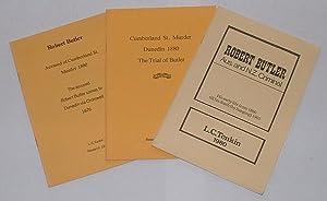 Series of 3 booklets on Robert Butler, the Cumberland St. Murder]: Tonkin, L. C.