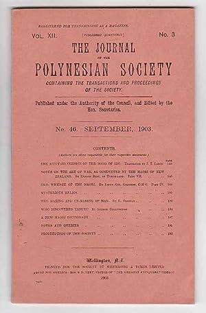 The Journal of the Polynesian Society. No. 46. September 1903 (Vol. XII, No. 3): The Polynesian ...